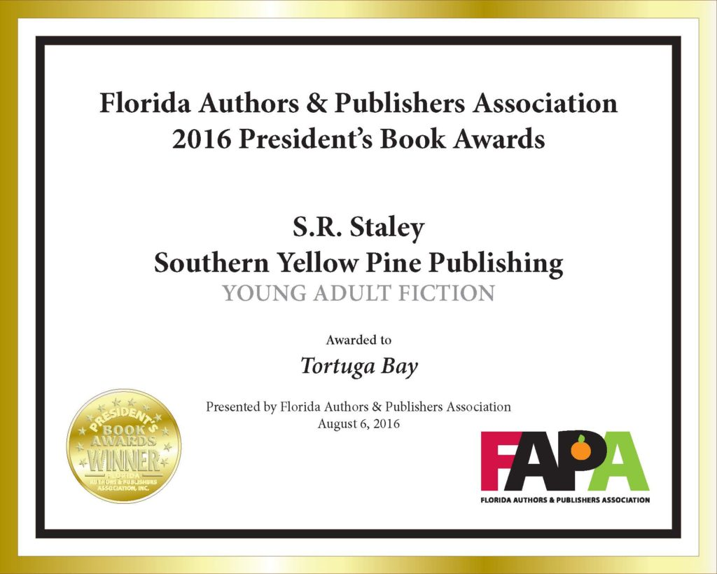 Gold medal certificate for Young Adult Fiction