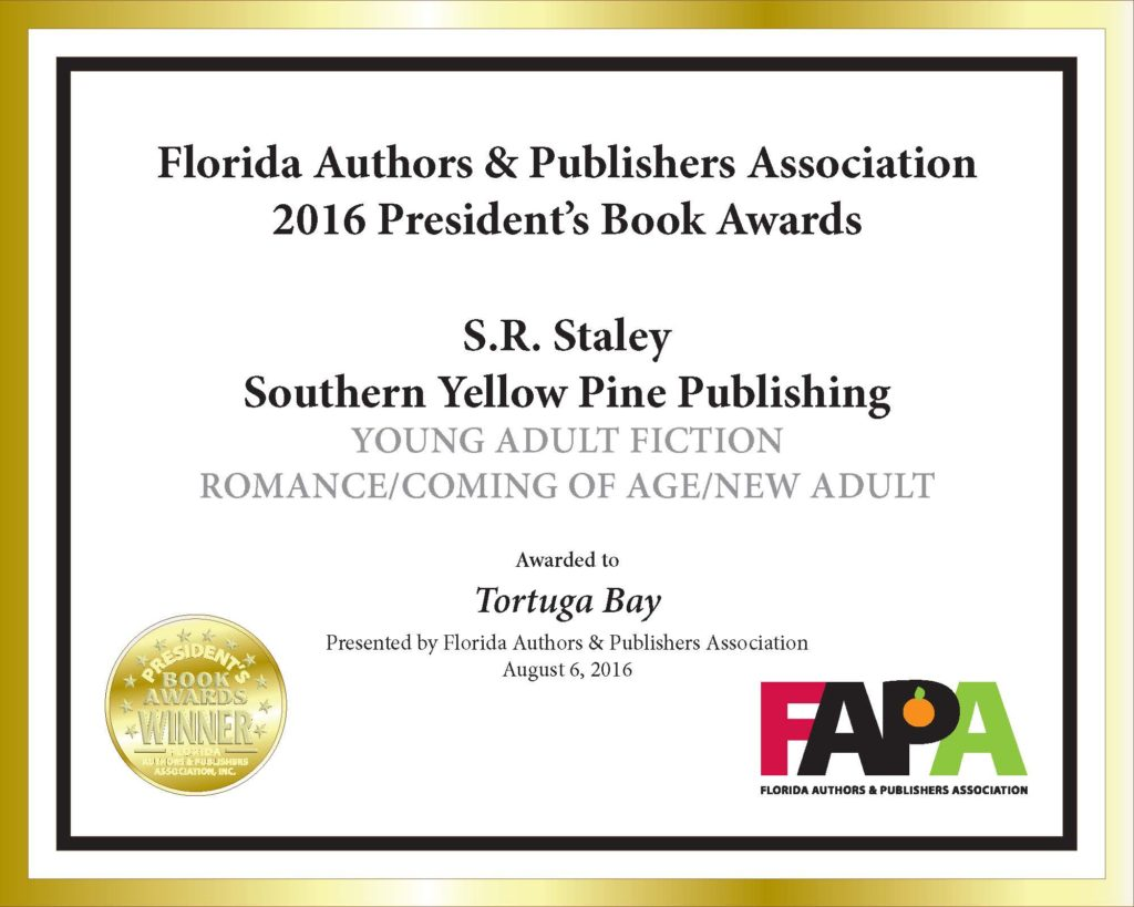 Gold medal certificate for Young Adult Romance/Coming of Age/New Adult